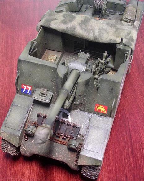 Wie man sieht ist der Aufbau durch die 25-Pfünder doch sehr stark abweichend von der klassischen M7-Priest.