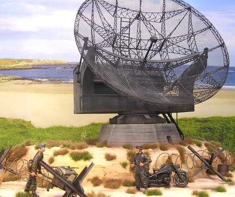 Die Würzburg-Geräte wurde sehr nah an der Küste eingesetzt, um die Frühwarnzeiten über England möglichst lang zu haben.