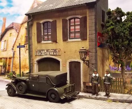 Eine idyllische Szene in einem kleinen französischen Dorf.