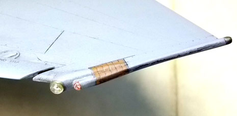 Auch die Tragflächensoitzen beherbergen Sensoren.