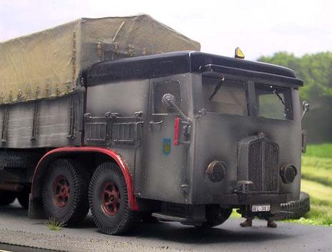 """Bulliges """"Gesicht""""-sicher eine echte Erscheinung auf den Reichsautobahnen."""