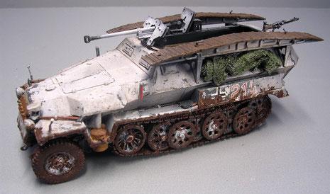 Die auffällige 2,8cm Panzerbüchse ergab auch hier die dringend erwünschte Steigerung der Feuerkraft.