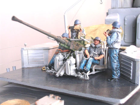 Flakcrew von Warrior bei Ladeübung.