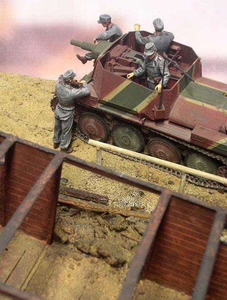 Hinten angebracht ein 7,62 MG 34 als FlaWaffe.