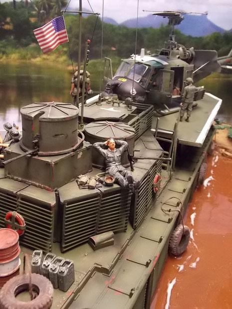 Hier sieht man gut, wie dichgedrängt es auf den Booten zuging.