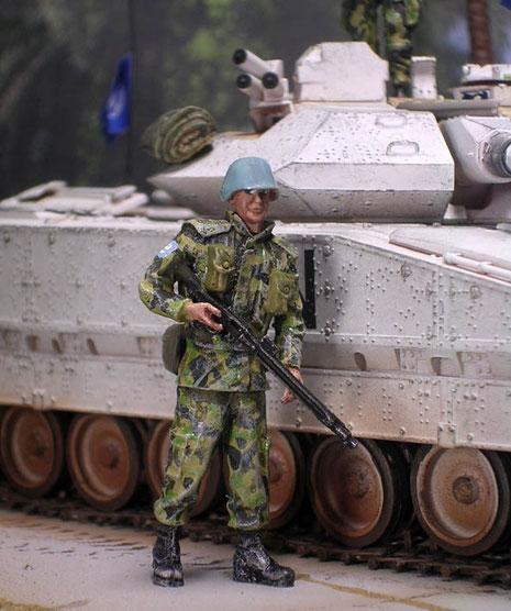 Die UNO-Soldaten kommen von Nimitz-bekanntlich hat die Marke nicht die besten Figuren, aber typischen UNO-Soldaten gibt es halt sehr wenige.