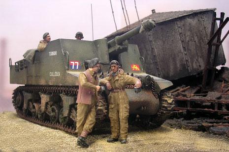 Die kanadischen Panzersoldaten sind von Bronco-sie enthalten 6 Besatzungsmitglieder in sehr natürlichen Haltungen.