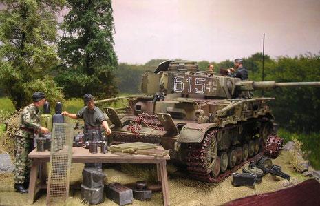 Der technische Halt bedingt Arbeit an allen beweglichen Teilen des Panzers.