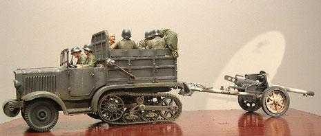 Umgespritzt in Wehrmachtsgrau.