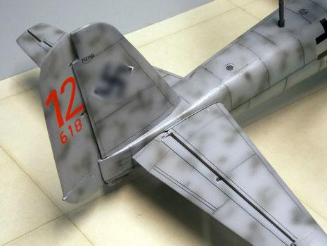 Das umgebaute Heck der Ju-88-G.
