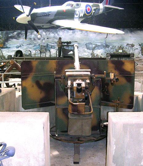 50mm Festungspak in Betonstellung