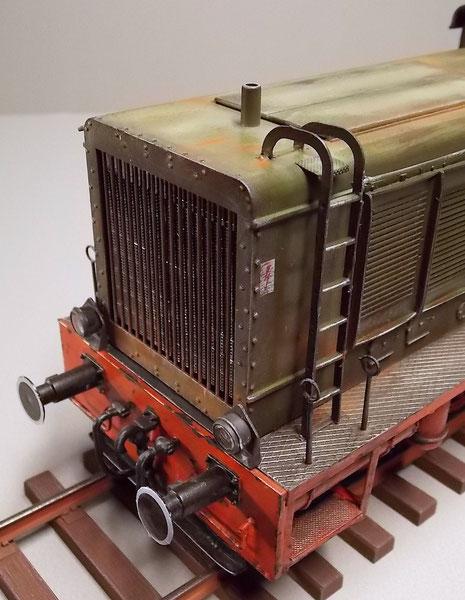 Die Decals für eine Wehrmacht-Lok kommen von Peddinghaus, wie z.B. die Stromhinweise.