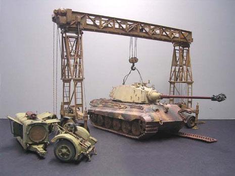 Die fertigen Fahrzeugmodelle bei der Probeaufstellung.