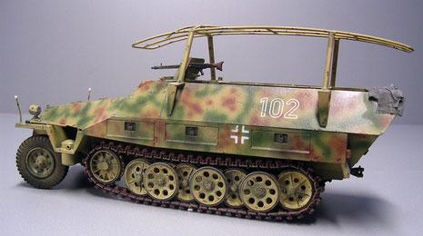 Tarnung überzog den Panzeraufbau, nicht aber die Laufrollen, so vermied man bei Rotation erhöhte Signallwirkung.
