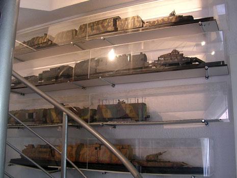 Auch der Aufgang zum Modellbau-Deck ist für die Panzerzüge genutzt. Sie sind größtenteils noch nicht fotografiert.