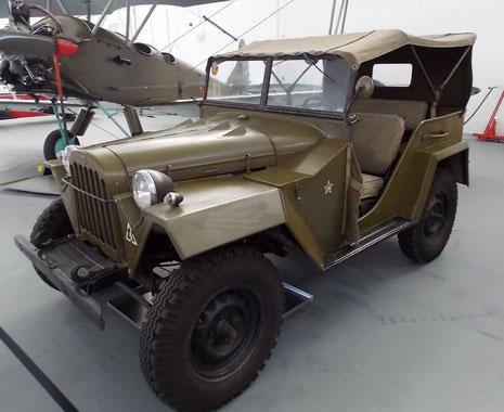 Russischer GAZ als Pendant zum US Jeep.