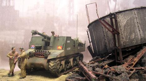 Das Ruhrgebiet ist nach der Schlacht  ein einziger Trümmerhaufen.