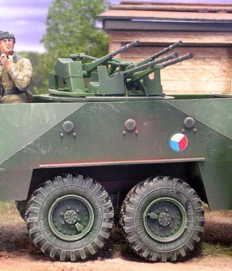 Die auffälligen Markerungen der tschechischen Streitkräfte.
