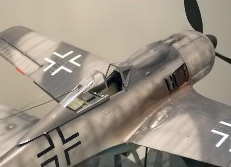 Geöffnete Kanzel bei der FW 190.