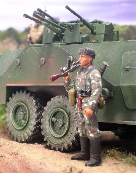 Die vier schweren MG sind auch im Erdkampf eine gefürchtete Waffe.