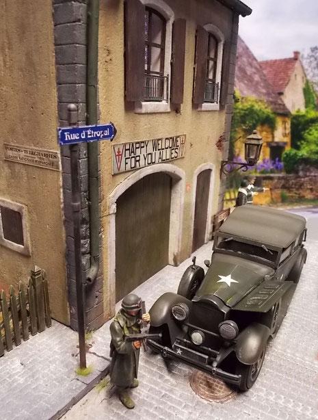 Kleine französische Dorfstraße...