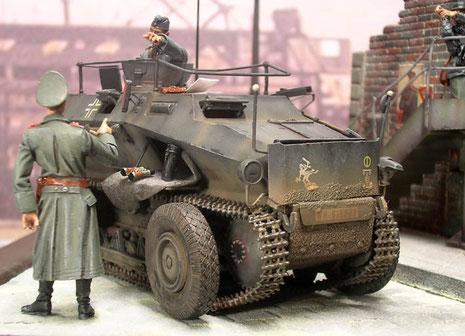Durch sein martialisches Äußeres wird das Sdkfz 254 so manchen Zivilisten schon erschreckt haben.