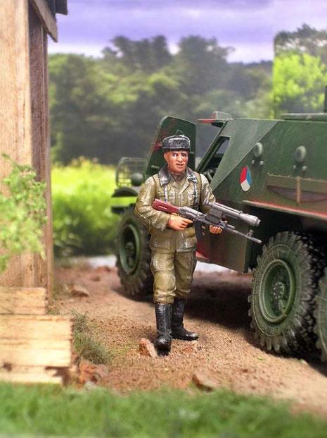 Die tschechischen Grenadiere sind u.a. mit Schnellfeuergewehren mit Zielfernrohr ausgestattet.