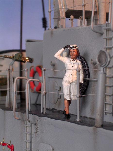 Auch Frauen an Bord.