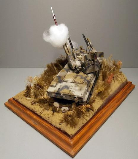 So bekommt das Diorama eine schöne Dynamik, auch mal ohne Figuren!