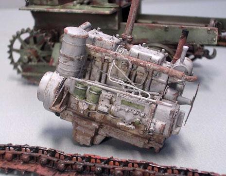 Der Motor ist zum Einbau fertig.