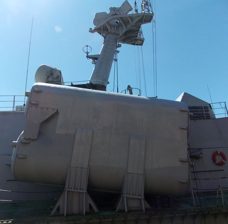 Schwere Bewaffnung für ein Boot dieser Verdrängung.