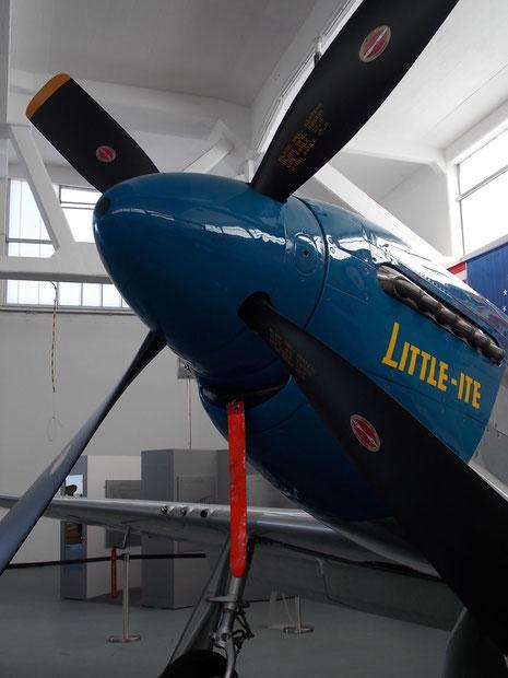 """4-Blatt-Propeller mit Herstellermarkierungen auf den """"hölzenern"""" Propellerblättern (besser bei Bruchlandung-keine Überschlaggefahr!)"""