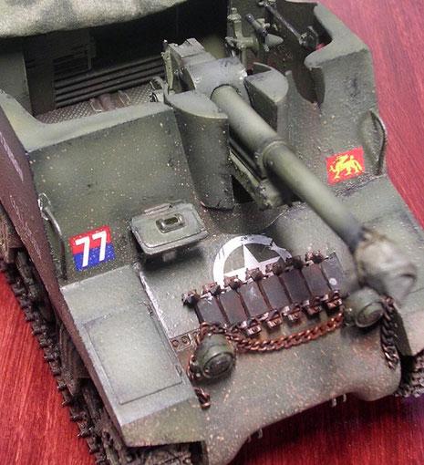 Ersatzkettenglieder wurden vorzugsweise auf dem Bug (gegossene Wanne!, späte Ausführung!) verteilt.