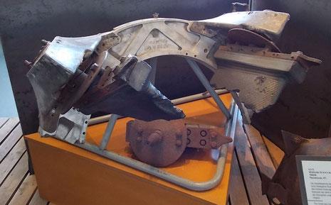 Originale Steuerruder, die im Gasstrom der V2 für die Richtungskorrektur sorgten.