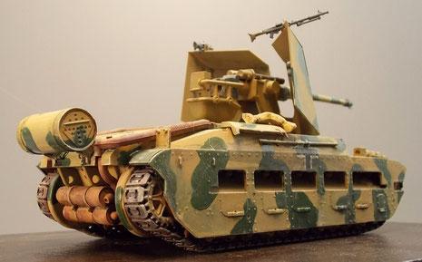 Der nach hinten offenen Aufbau mit der 5cm KwK.