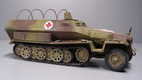 Bis auf die fehlenden Bewaffnung blieben die Sanitätsfahrzeuge äußerlich unverändert.