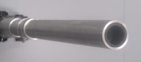 Der Rohreinsatz passt perfekt in das Alurohr-Maßarbeit!