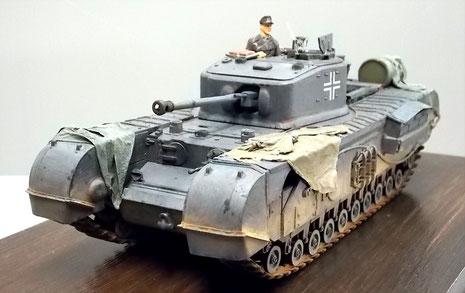 In Wehrmachtsgrau bis Ende 1942-wahrscheinlich ein Fahrzeug der Dieppe-Landung 1942