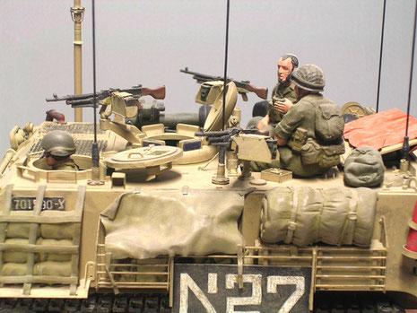 Ein Vielzahl von MGs für die Nahverteidigung gehört zur IDF-Ausstattungsphilosophie.