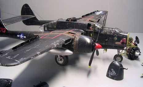 Gesamtmodell fertig für das Feldflugplatzdiorama.