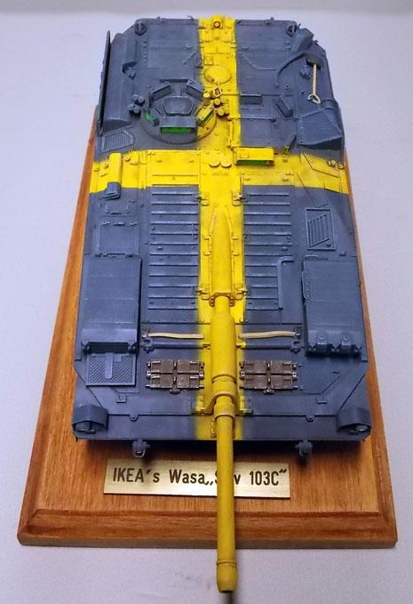 Aus der Topsicht kann man gut das schwedische Kreuz erkennen-eine wahrhaft skurille Idee.