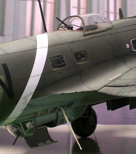 Die P-Reihe hatte nebem dem Bug-MG nur zwei MG-Ständen am Rumpf.