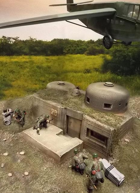 In ihren grün-grauen Uniformen heben die Fallschirmjäger sich kaum von ihrer Umgebung ab.