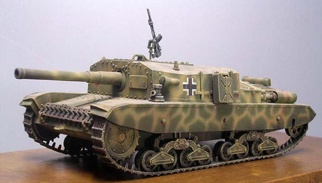 Weiterhin bleibt eine äußerst niedrige Sihoutte, was einen erfolgreichen Panzerjäger auszeichnet.