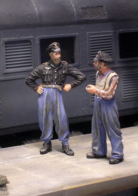 Entspannte Reichsbahner.