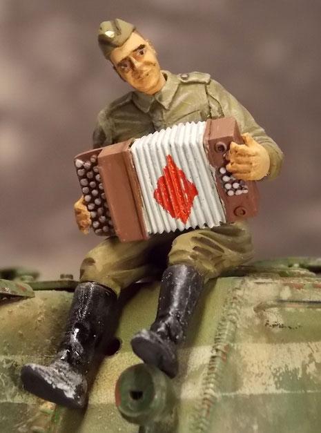 Infanterist in Siegeslaune..