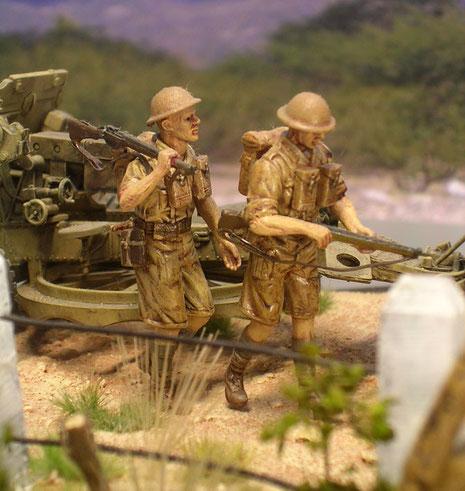 Währenddessen geht der Vormarsch für die Infanteristen per Pedes weiter.