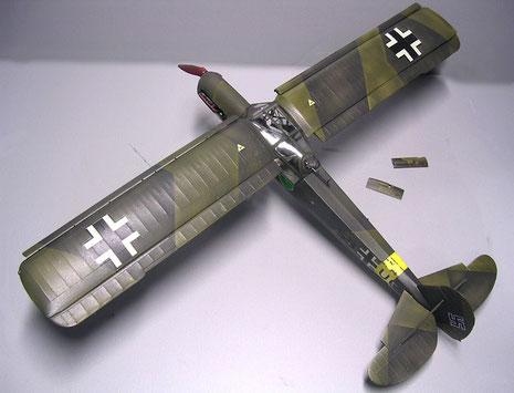 Das Modell von Hasegawa wurde in der Splintertarnung der frühen Kriegsjahre getarnt.