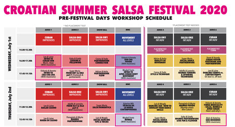 croatian summer salsa festival 2020 day workshop