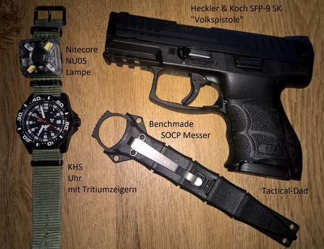 Ich habe die Nitecore NO05 erst mal an meiner KHS Uhr befestigt. Ob sich das bewährt wird sich zeigen?